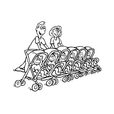 mom dad with baby. happy family . Vector Illustration . Fully editable vector.