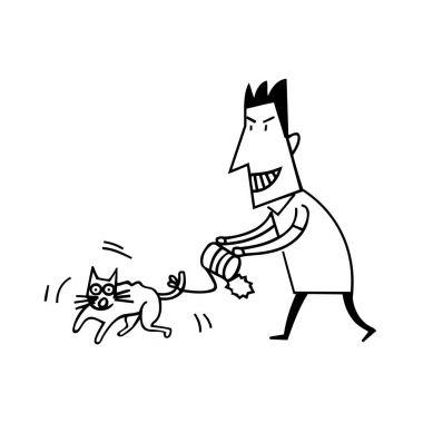 Animal Abuse by Human Illustration