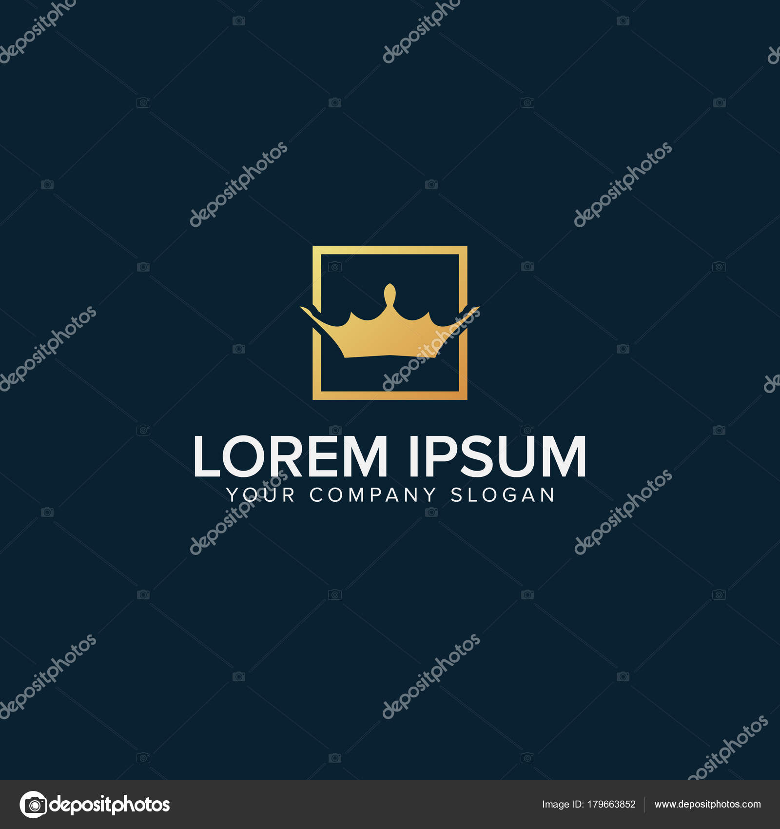 Krone in quadratische Logo Vorlage — Stockvektor © oriu007 #179663852