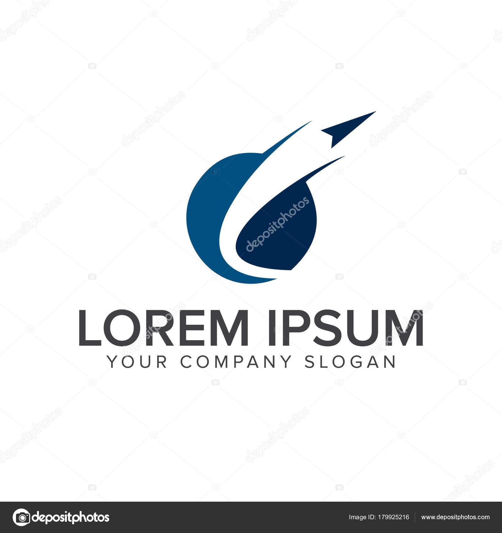 Papier Flugzeug Start Logo. Technologie-Logo-Design-Konzept-Vorlage ...