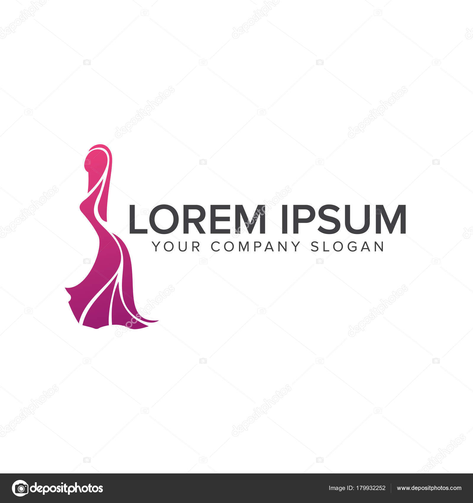 Wedding fashion logo design concept template — Stock Vector ...