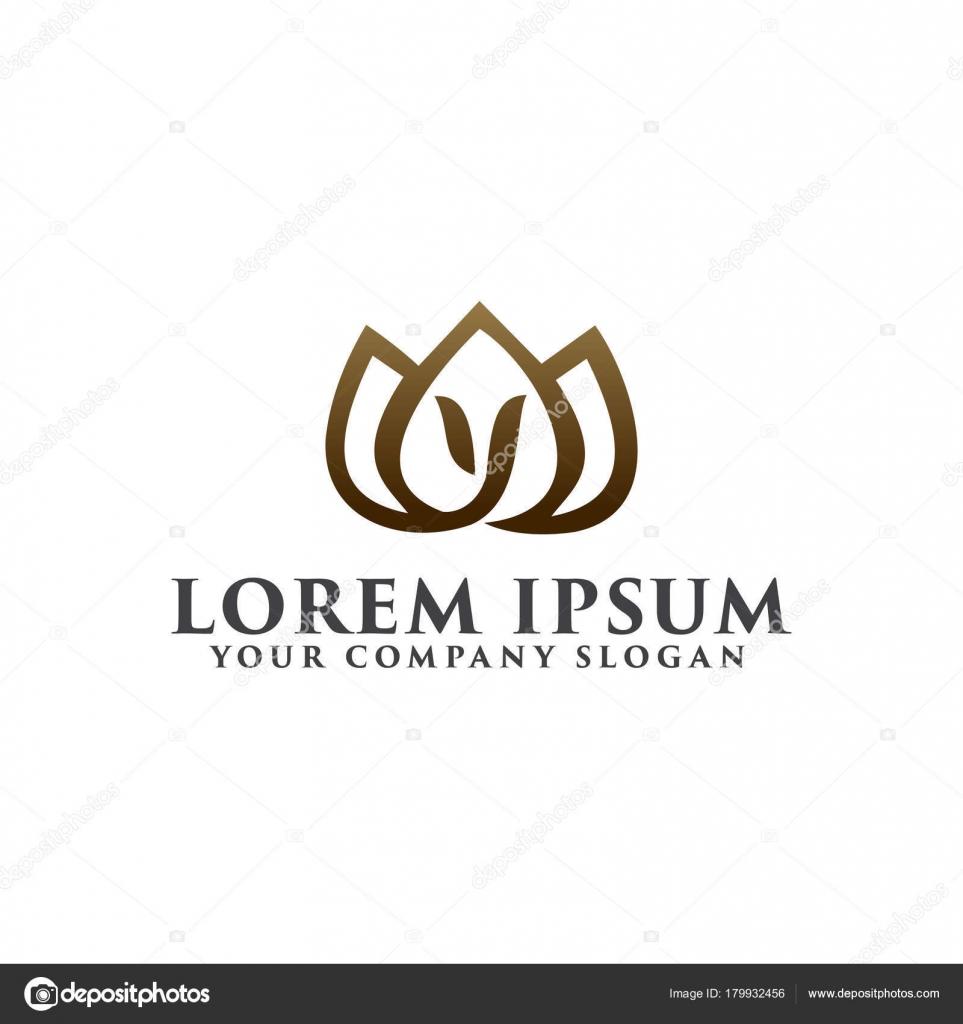 Plantilla de concepto de diseño de flor de lirio paisajismo logo ...
