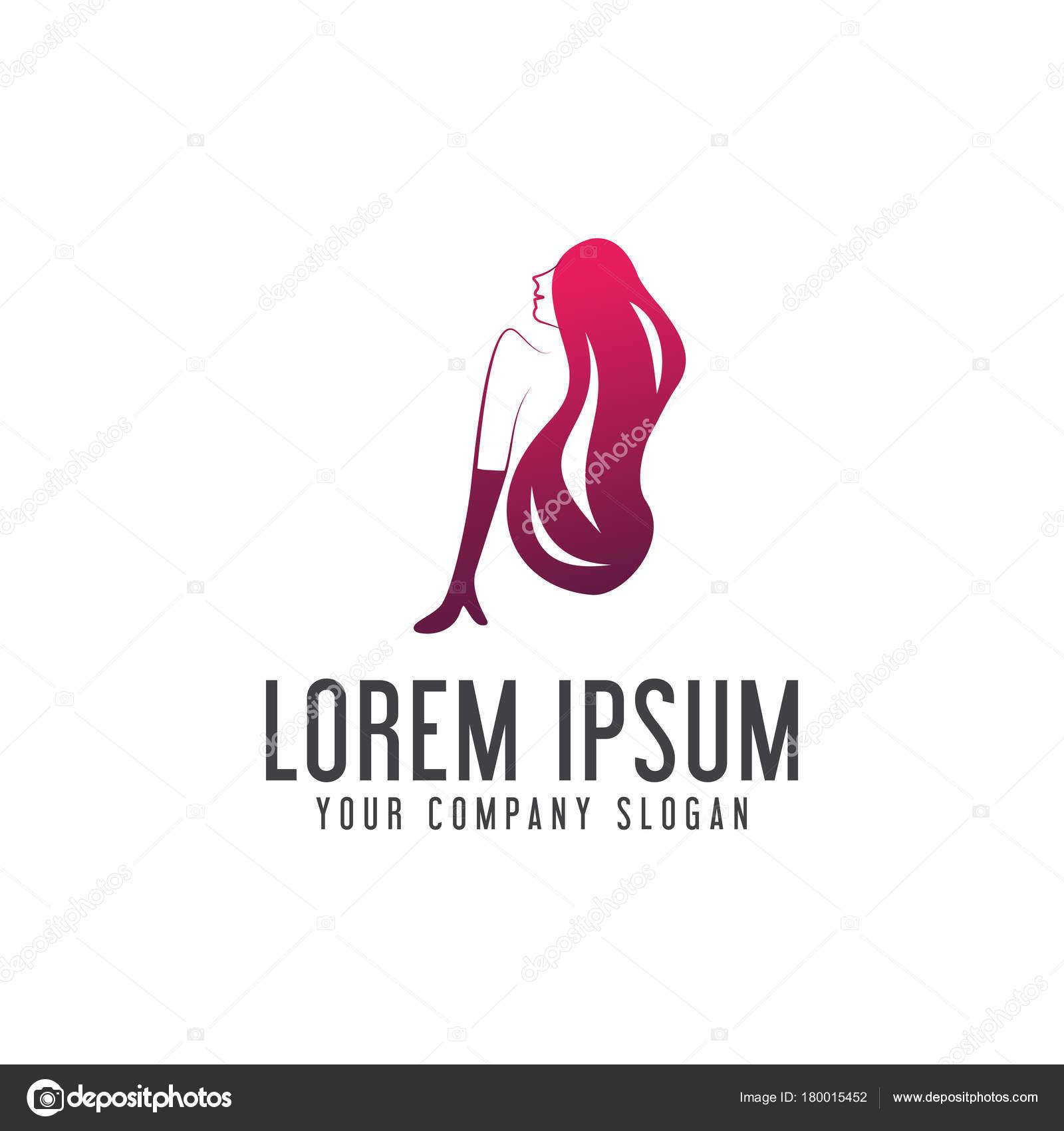 Woman Beauty Logo Design Concept Template Stock Vector C Oriu007