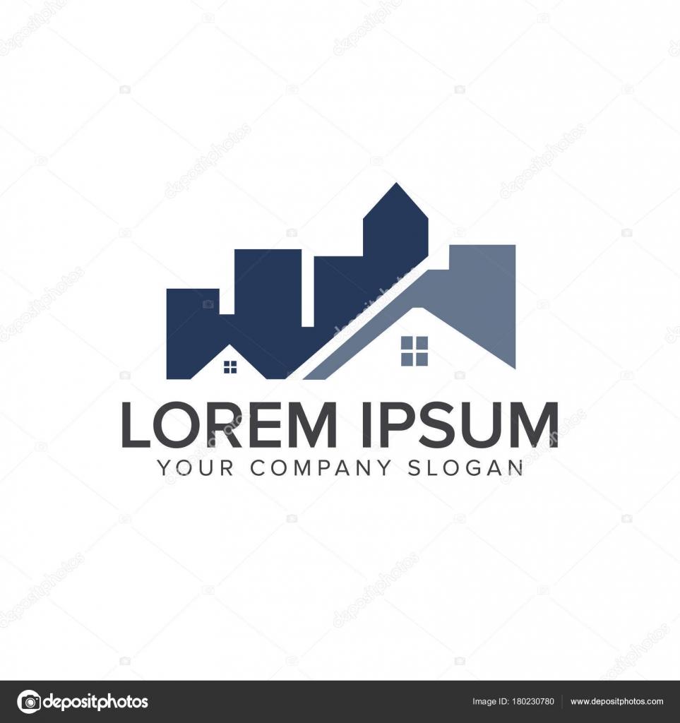 Architektur, Bau-, Immobilien- und Hypotheken-Logo-Design-Konzept ...