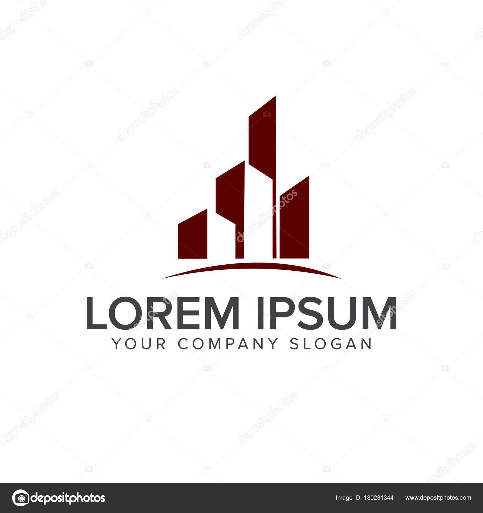 Architektur, Bau, Immobilien und Hypotheken Logo Design Konzept ...