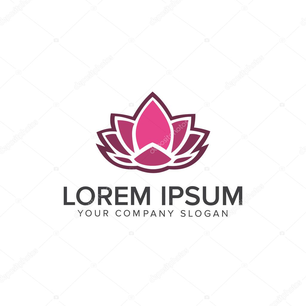 Lotus Logo,Lotus flower logo,Beauty logo,Fashion logo,Vector Logo