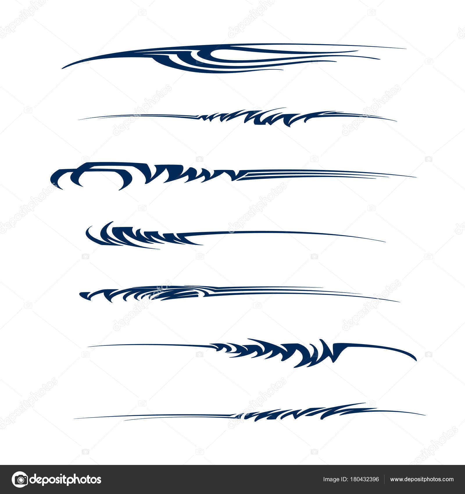 Car motorcycle racing vehicle graphics vinyls decals fully editable vector vector by oriu007