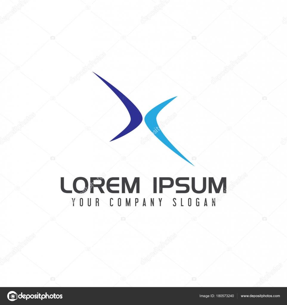 14129dd51 Letra x modelo de conceito de design de logotipo de esporte — Vetores de  Stock