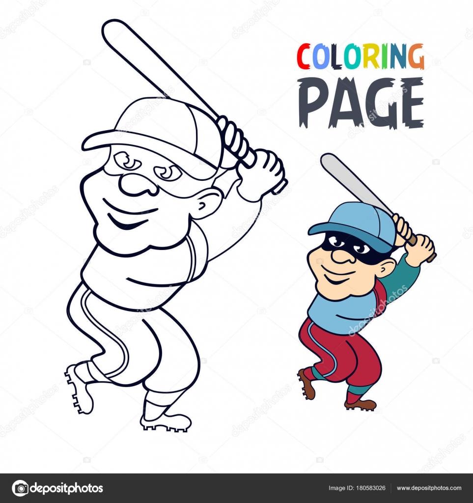 Großzügig Malvorlagen Für Baseball Spieler Ideen - Beispiel Business ...
