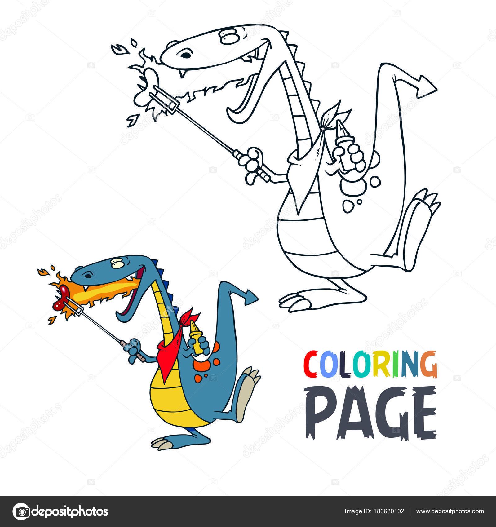 Malvorlagen Dinosaurier cartoon — Stockvektor © oriu007 #180680102