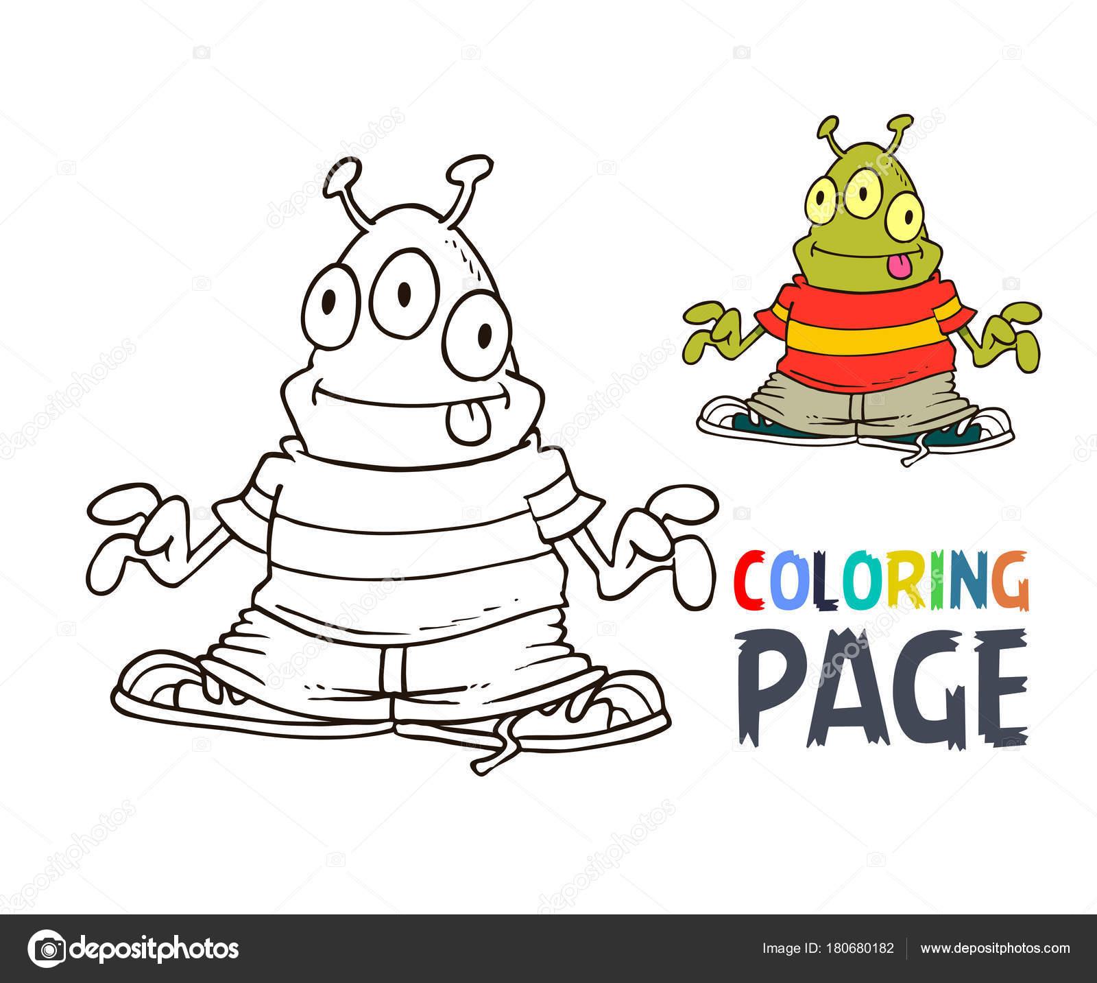 Página para colorear de dibujos animados extranjeros — Archivo ...