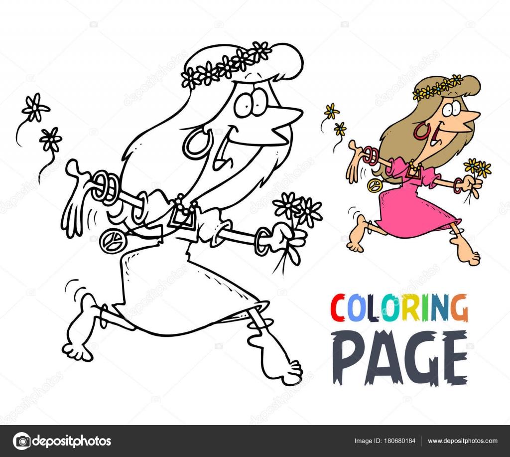 Tanz Frauen Hula Hoop Cartoon Malvorlagen — Stockvektor © oriu007 ...