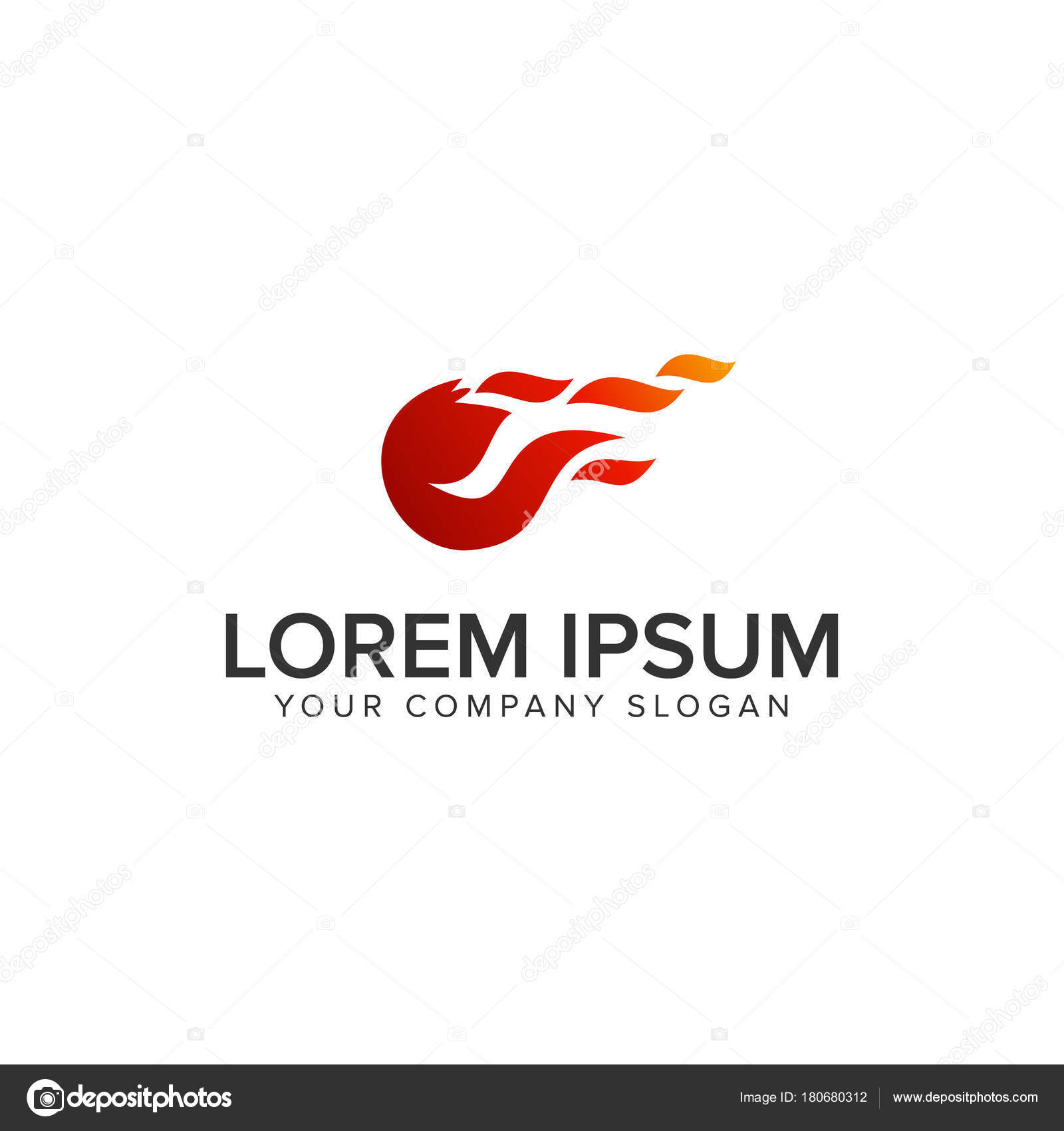 fireball logo design concept template stock vector oriu007