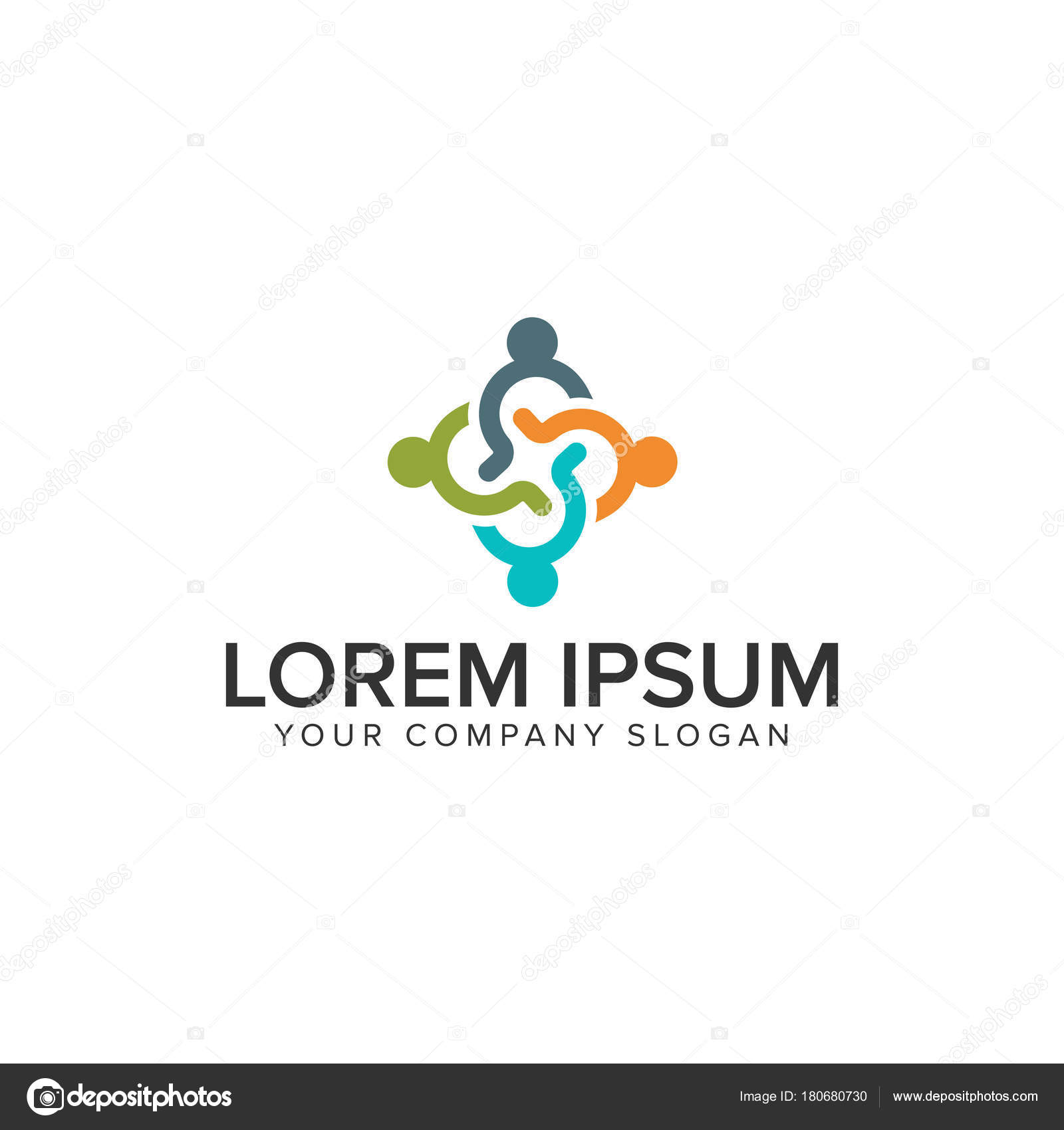 people Business and Consulting logo. teamwork logo design concept ...