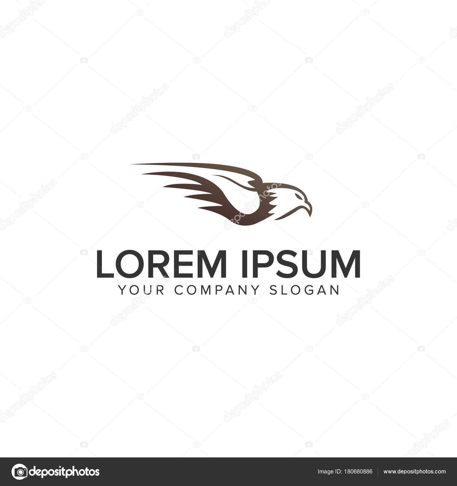 eagle logo design concept template stock vector oriu007 180680886