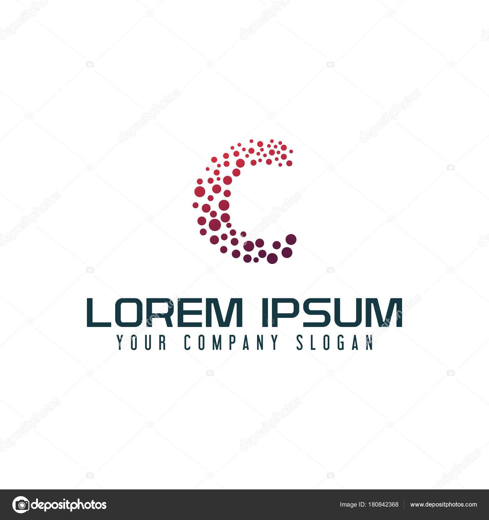 0b0847fab8 Modelo de carta C internet logotipo design conceito — Vetores de Stock
