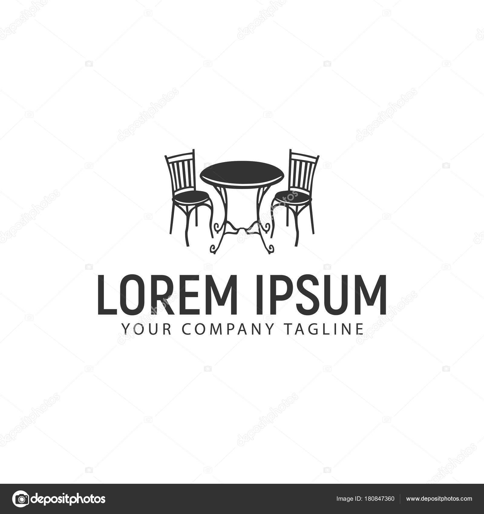 antique desk chair logo design concept template — Stock Vector ...