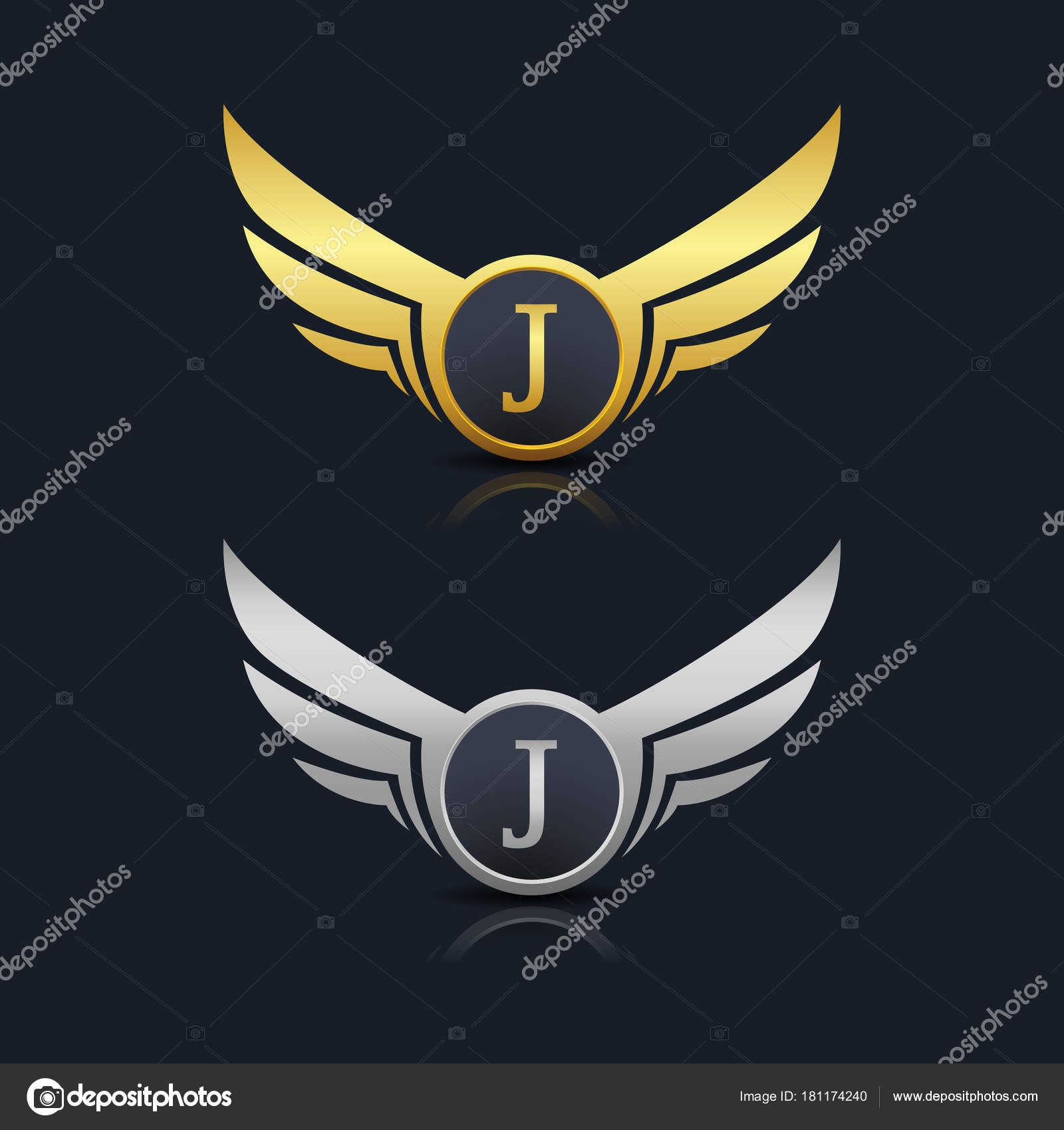 Letter J Emblem Logo Stock Vector C Oriu007 181174240