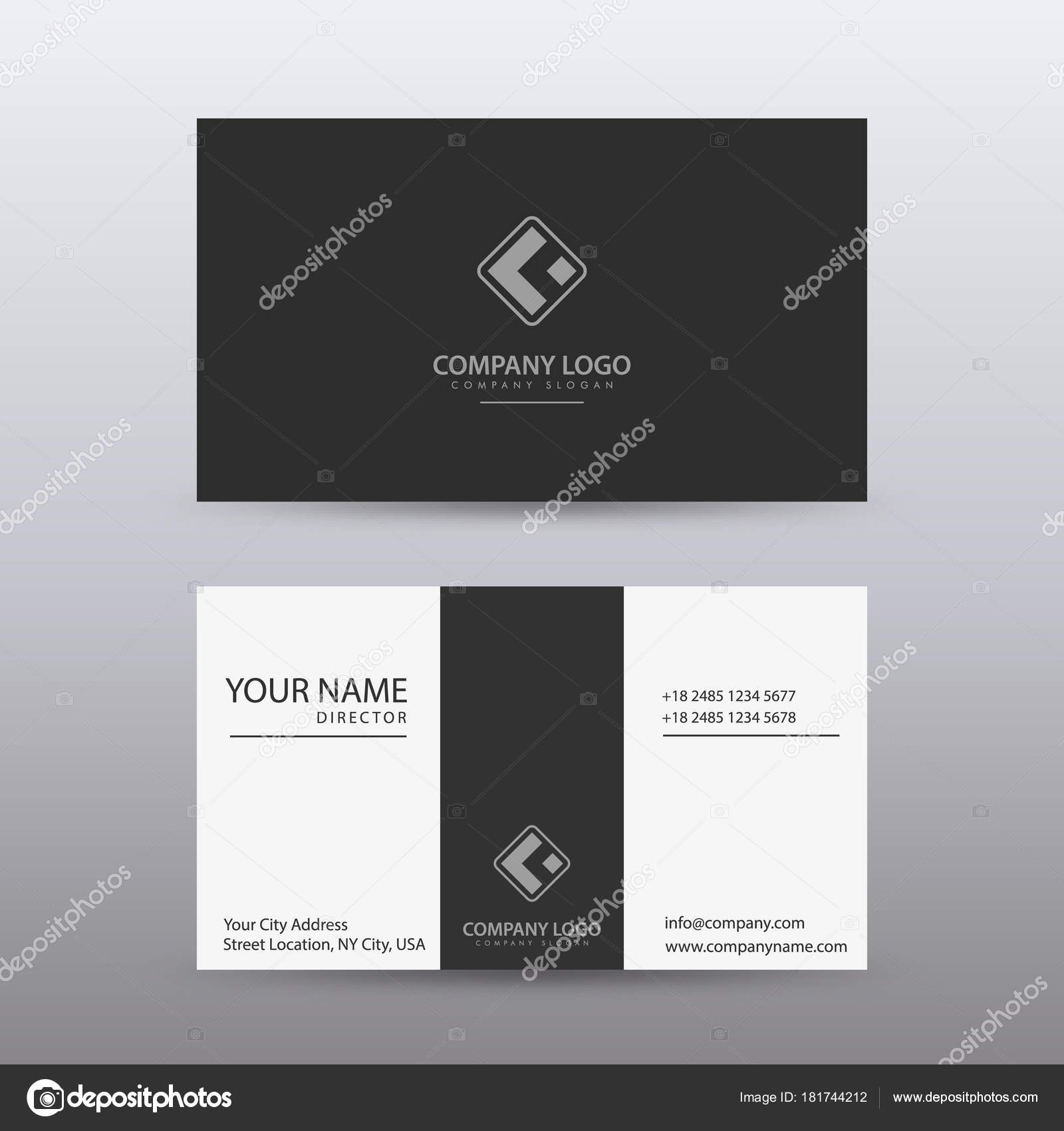 Modern creative and clean business card template with dark color modern creative and clean business card template with dark color stock vector colourmoves