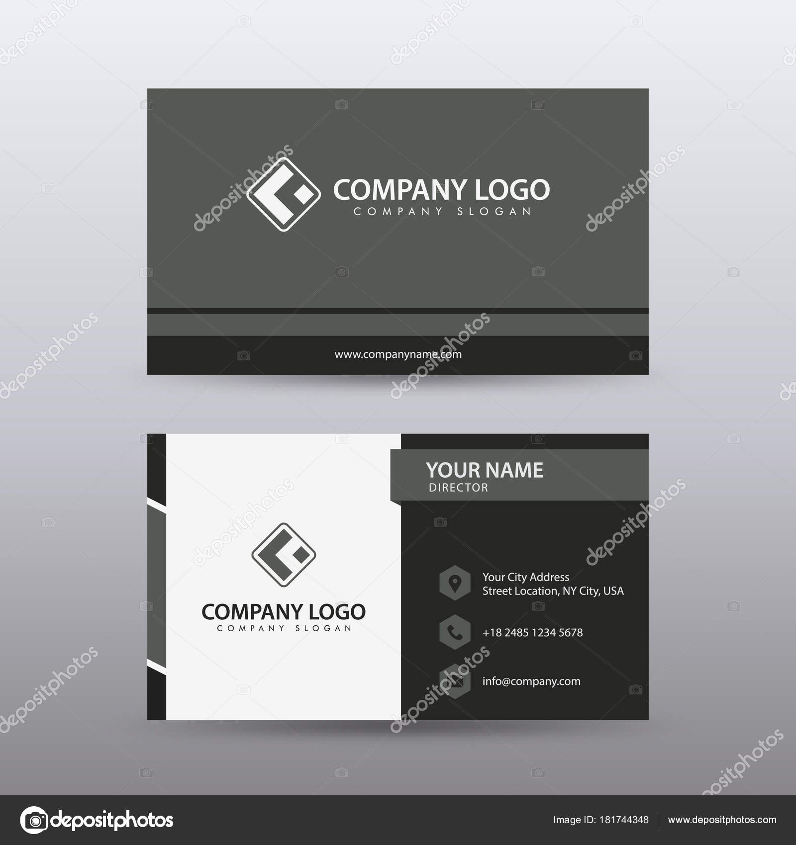Modern creative and clean business card template with red black modern creative and clean business card template with red black color stock vector accmission Choice Image