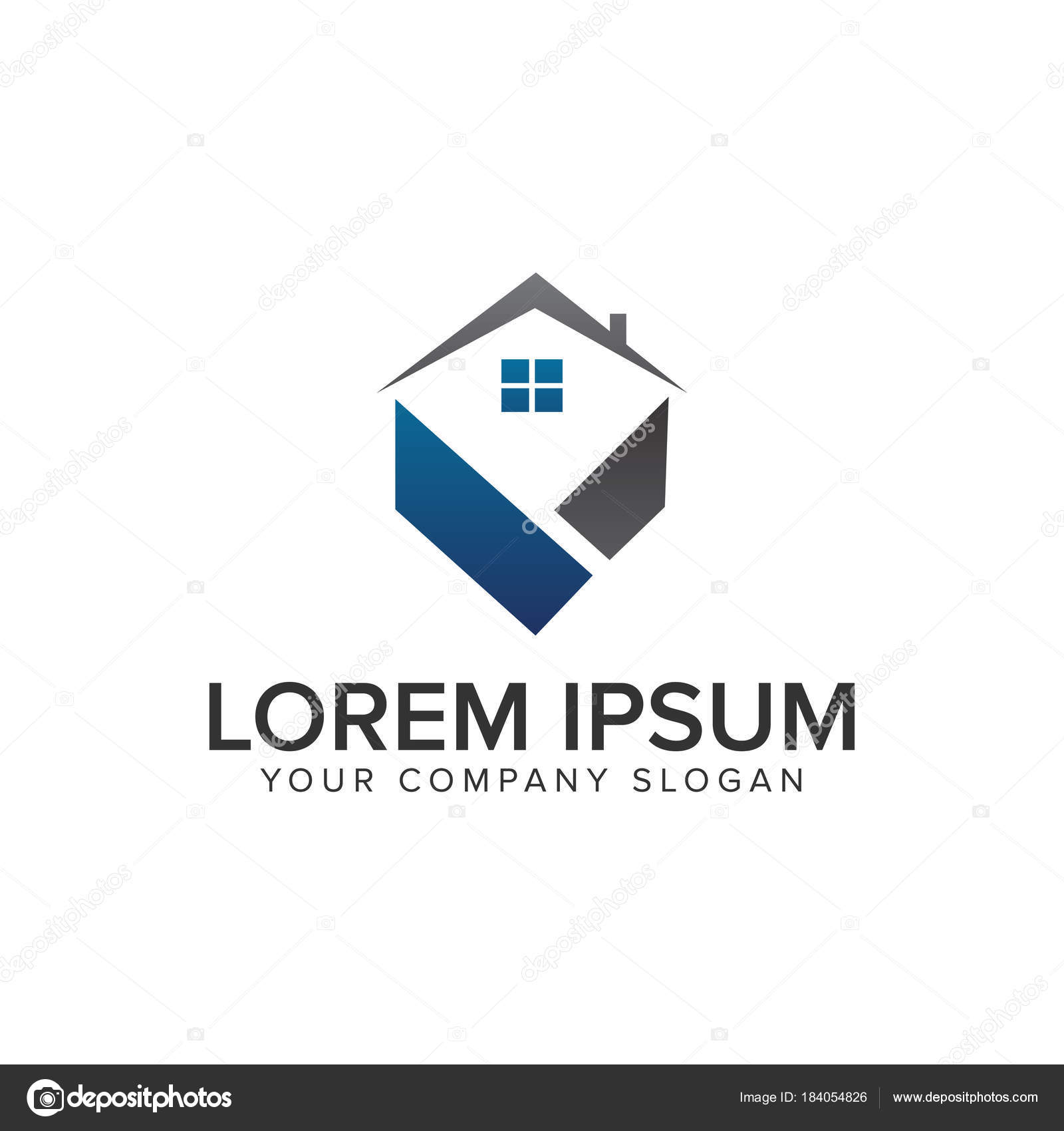 Immobilien-Logo. Hypotheken Sie-Haus Immobilien Logo-Design-Konzept ...