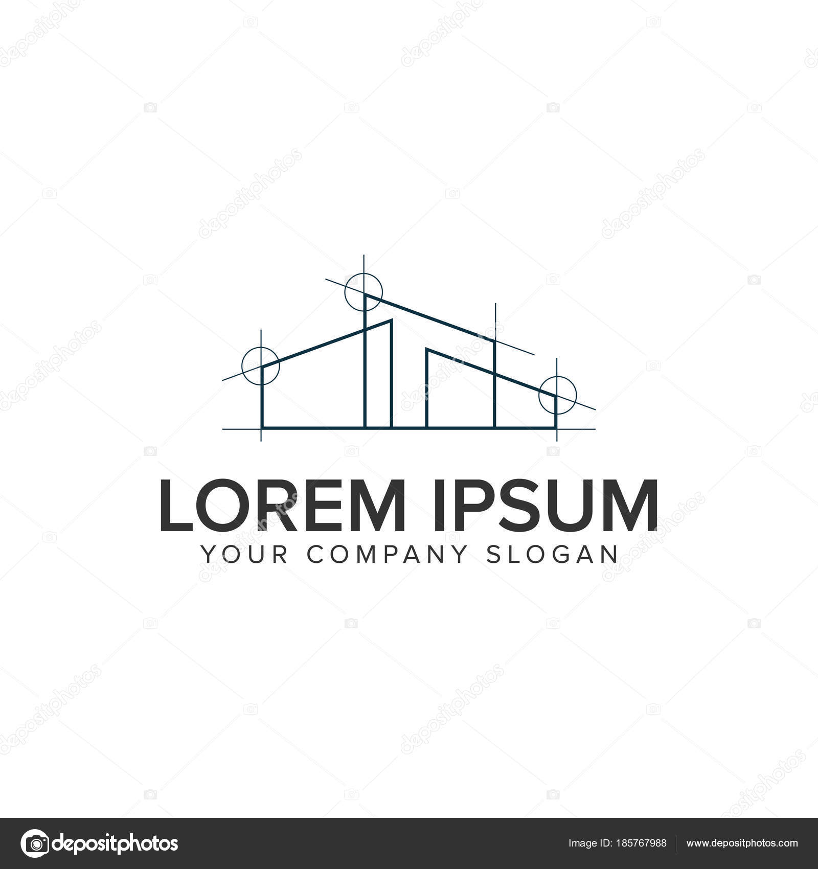 Home Architekt Design Logo Design Konzept Vorlage U2014 Stockvektor