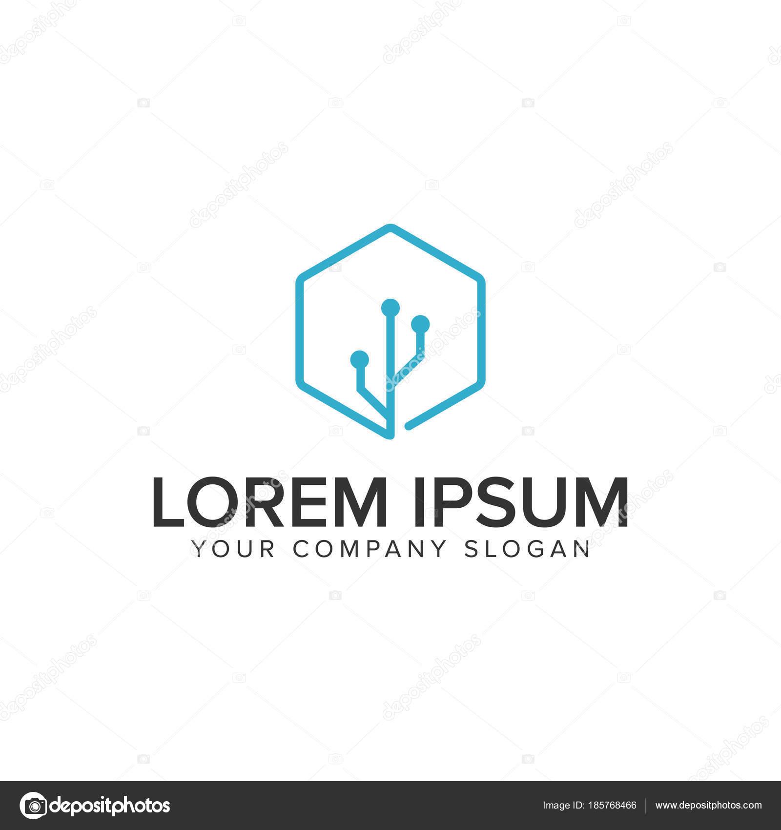 Plantilla de concepto de diseño de logo de conexión usb — Vector de ...