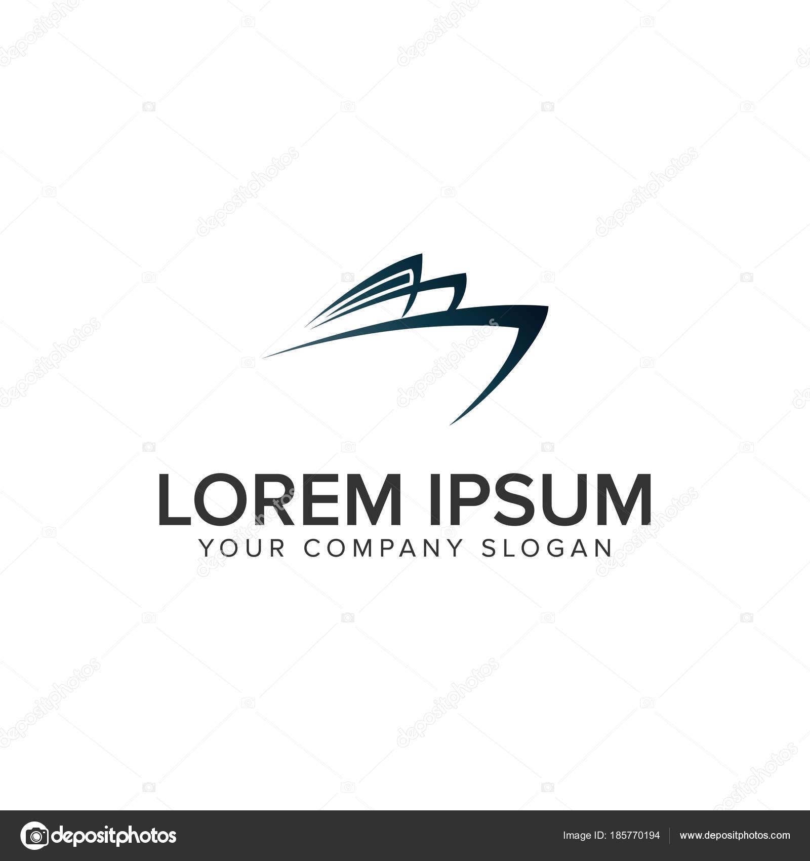 Boat logo design concept template  — Stock Vector © oriu007 #185770194
