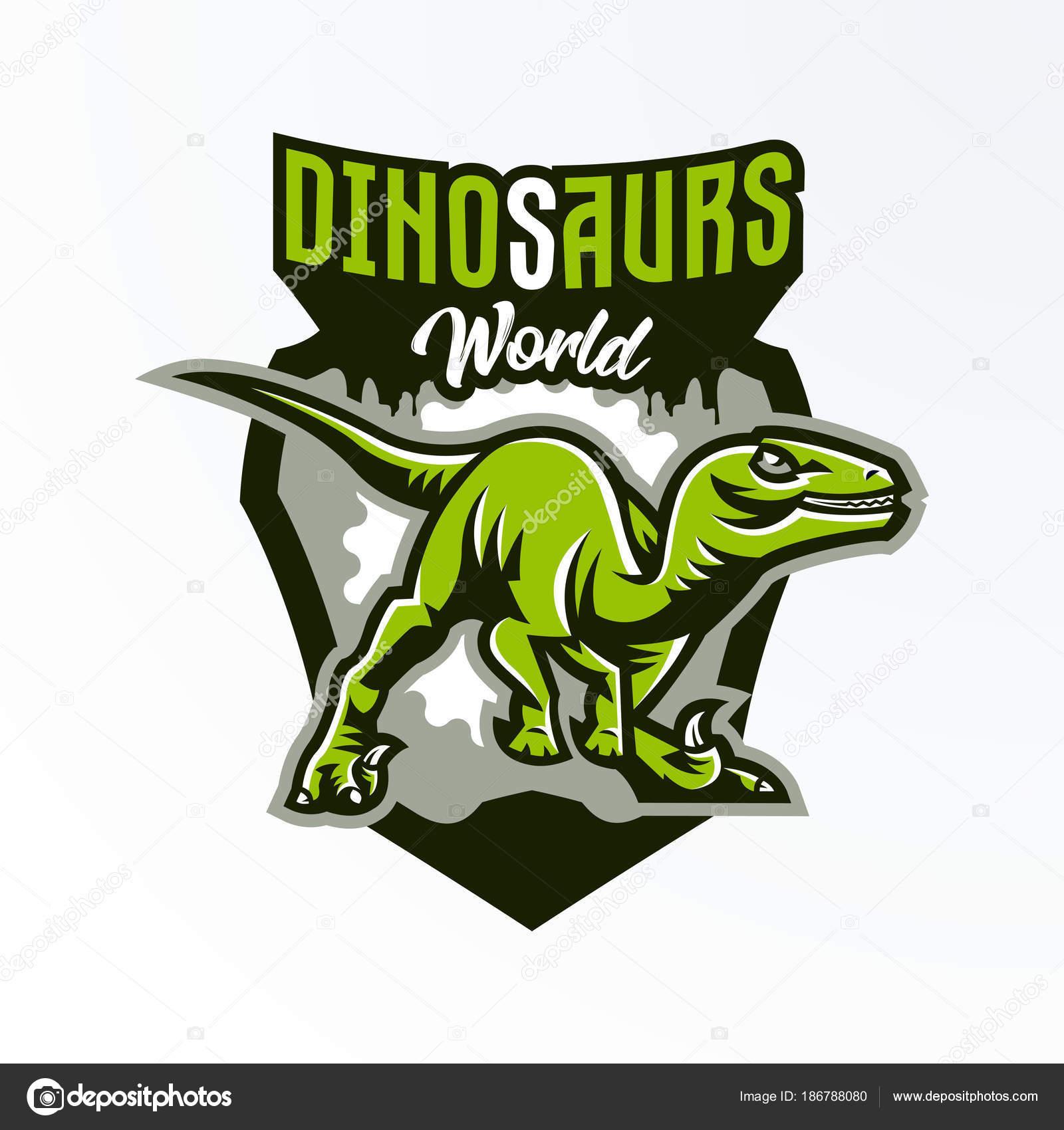 emblem badge sticker dinosaur logo on the hunt