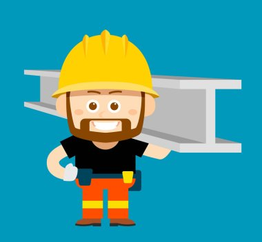 cartoon character of worker
