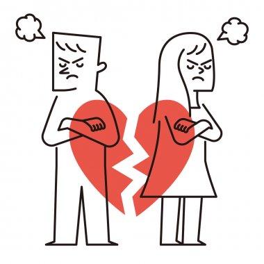 broken heart with coupl