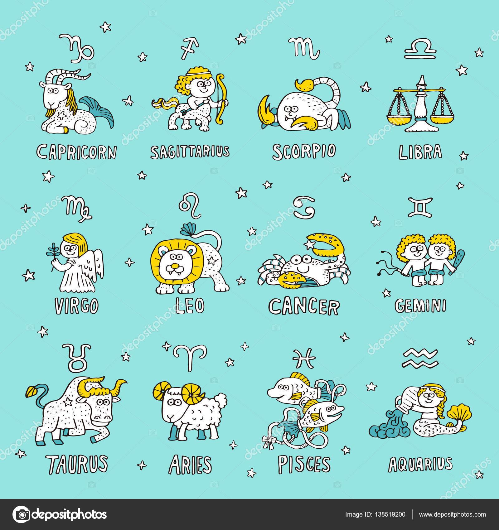 Different Zodiac Symbols Stock Vector Min6939 138519200