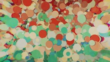 colored circles with blur on the sides