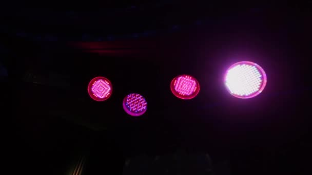 Lighters in the night club glow in different colors