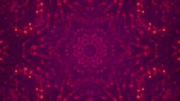 Disco kaleidoskopy pozadí animovaný zářící neon barevné linie a geometrické tvary pro hudební videa, Vj, Dj, jevištní, Led obrazovky, show, akce, vánoční videa, festivaly, noční kluby. 4k.