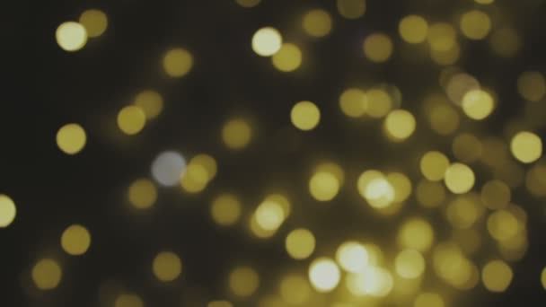 Golden Blurred Bokeh Lights Background Abstract Sparkles Full