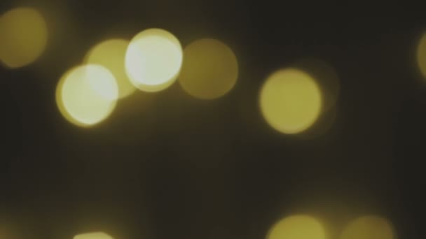 Golden, blurred, bokeh lights background  Abstract sparkles  Full HD loop,  1080p