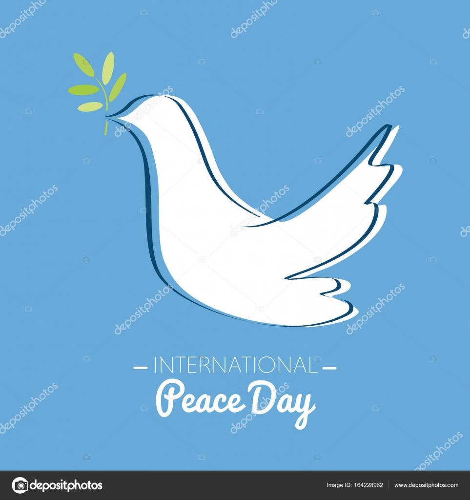 Journée de la paix internationale avec le dessin d'une ...