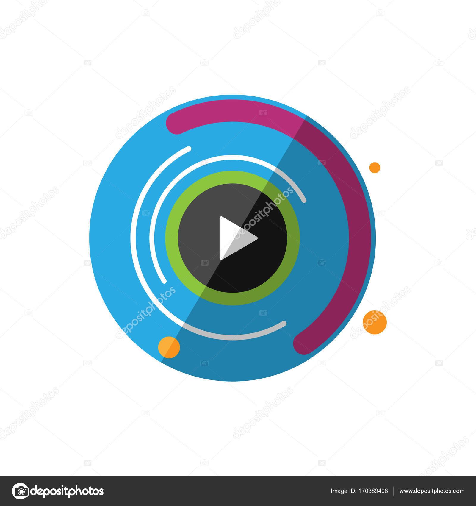 Symbol für Motion Grafiken. Digitale Animation-Vektor-illustration ...