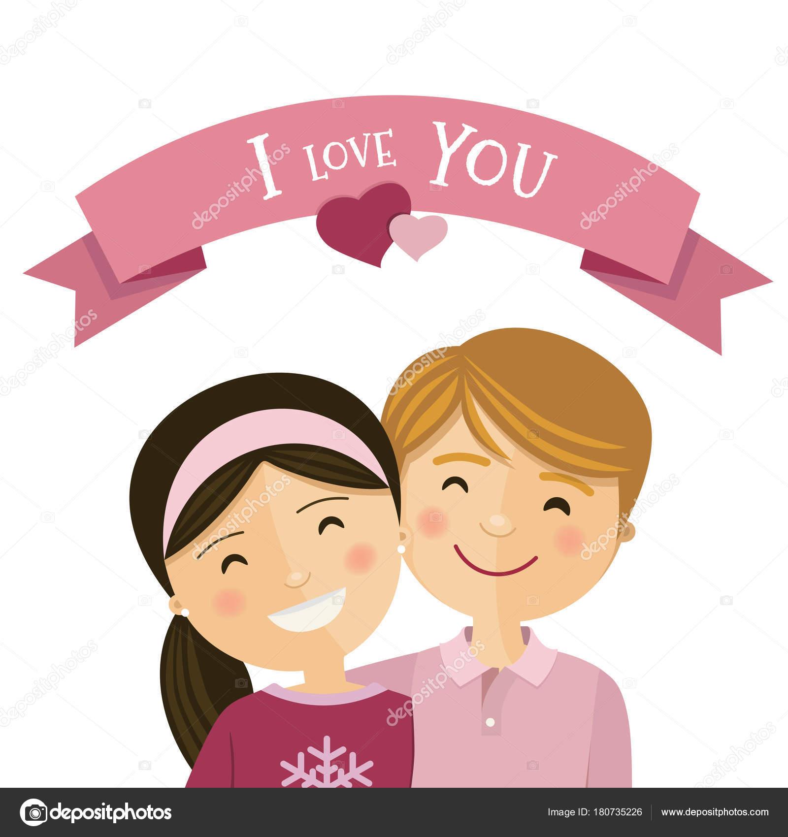 笑顔と抱き合って愛のカップル — ストックベクター © imaagio #180735226