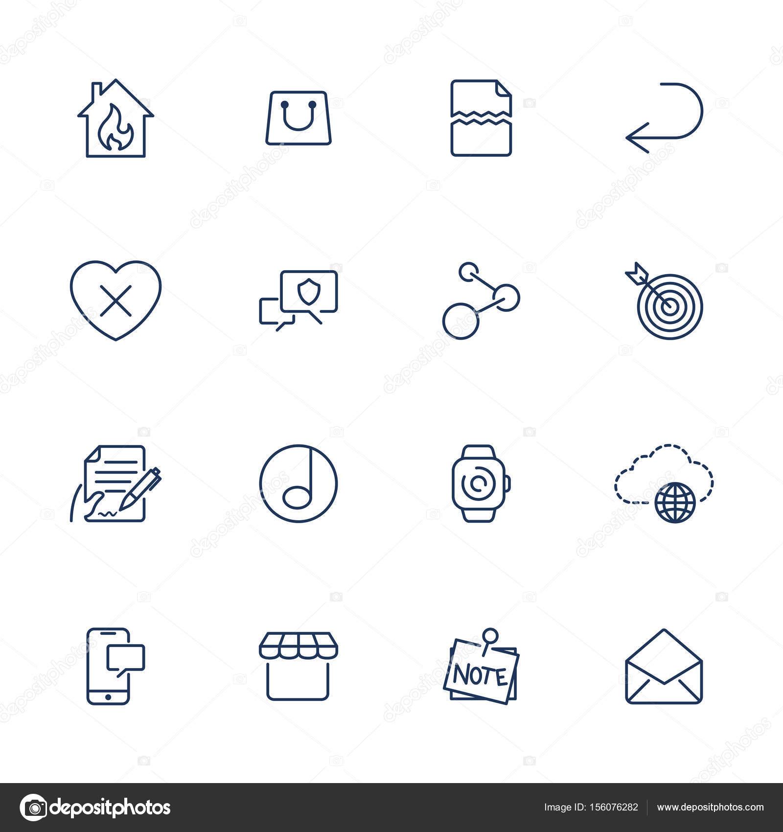 Einfache Symbole für app, Programme und Websites. Set mit ...