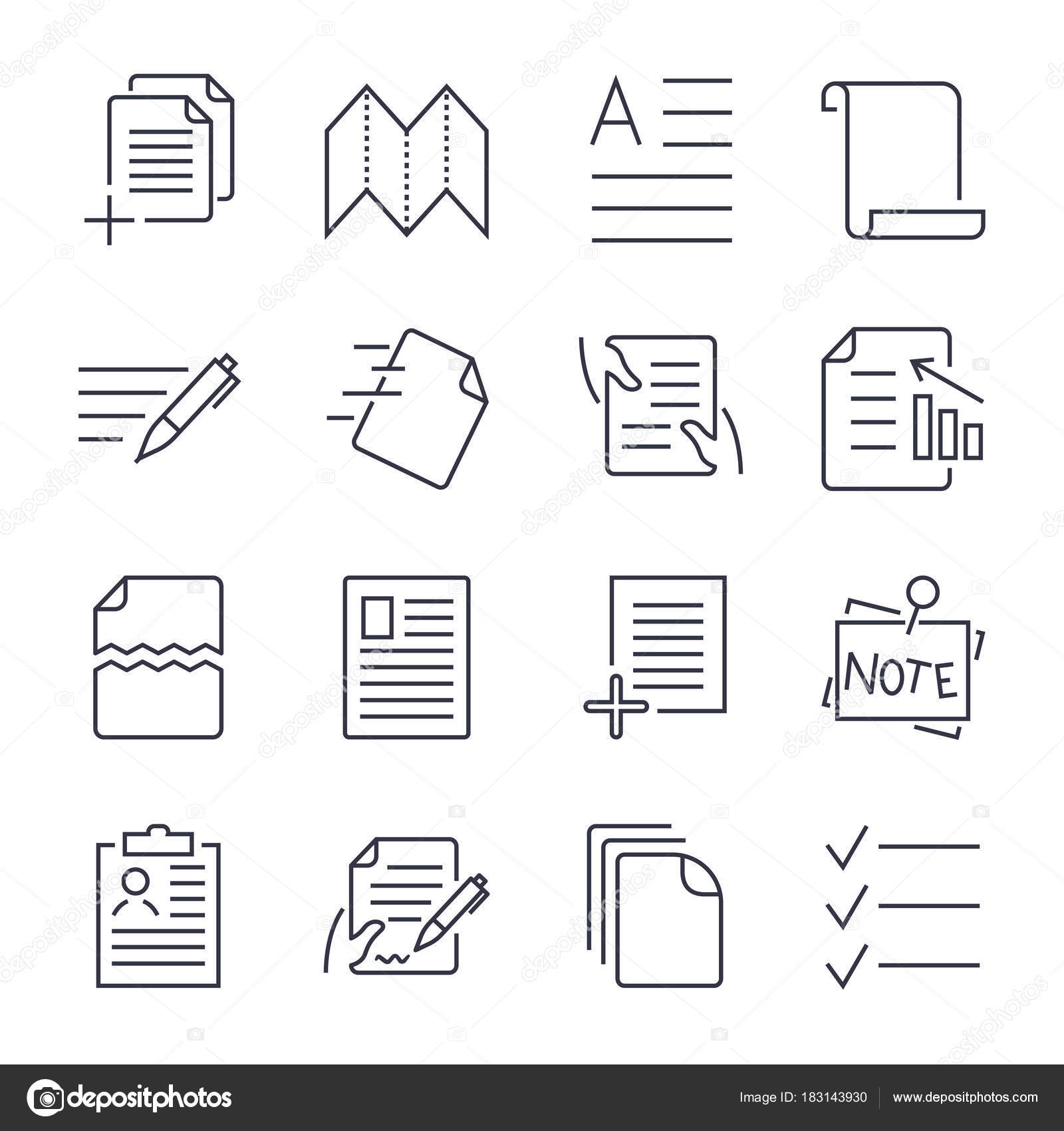 Simple Set Of Document Icons Contains Such Icons As Batch - Simple legal documents