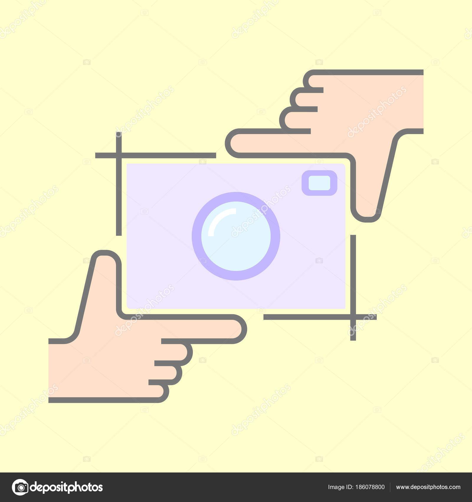 Menschliche Hände tun Zuschneiden Symbol isoliert. Rahmung Hände und ...