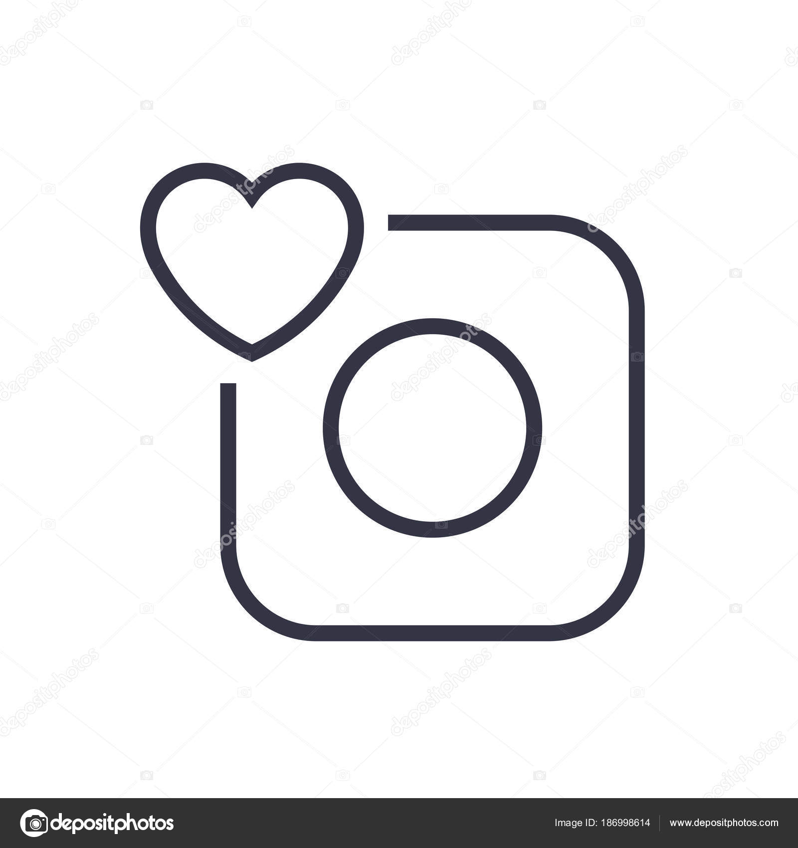 Camera Icon Camera And Heart Eps 10 Stock Vector Defmorph1