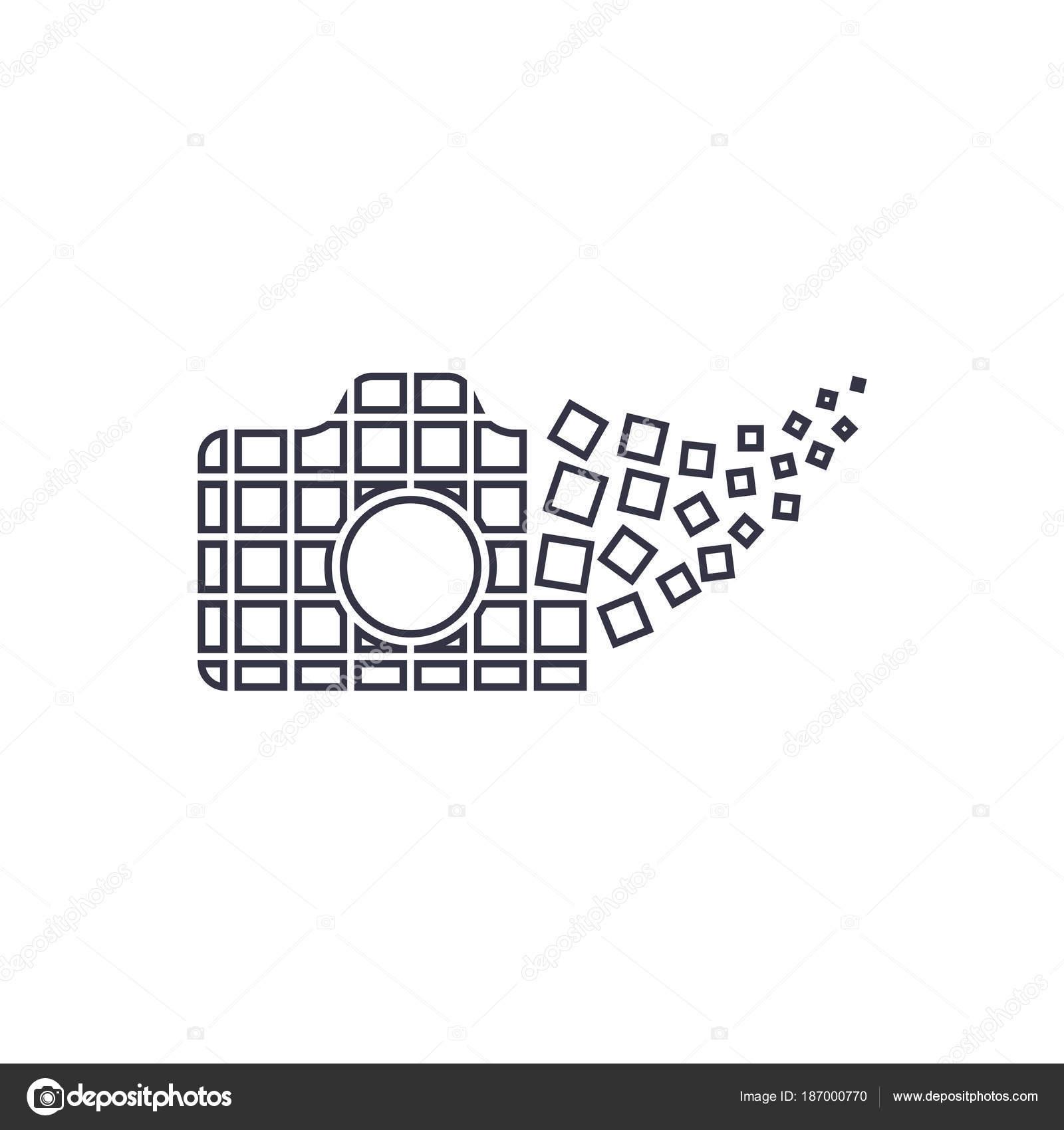 Kamera Fotografie Logo Symbol Vorlage. Digitalkamera-Konzept ...
