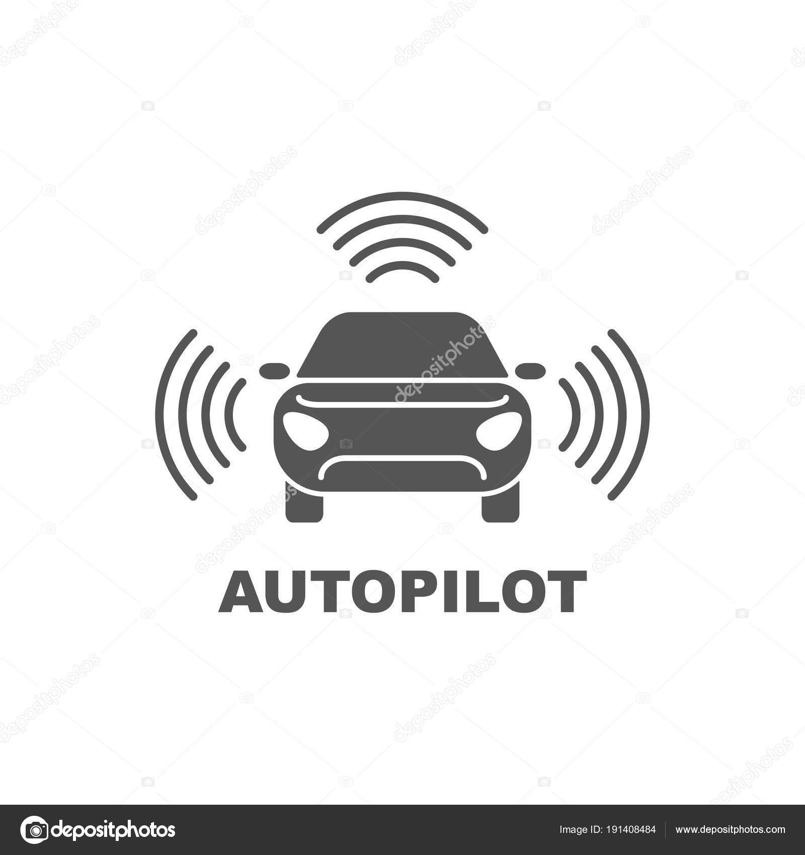 Autopilot-Symbol. Einfaches Element Abbildung. Autopilot Symbol ...