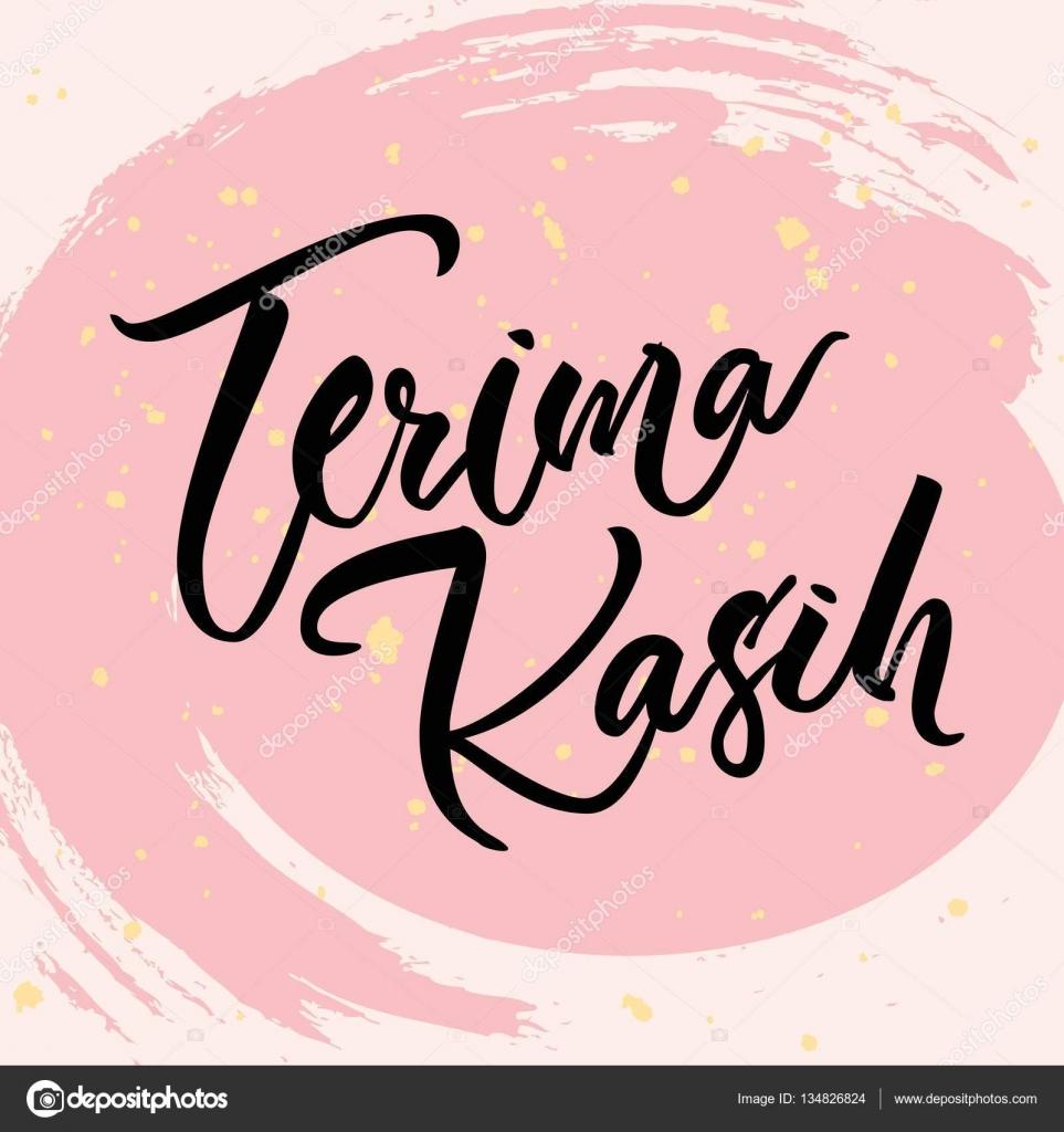 Indonesian Lettering Terima Kasih Thank You Vector Bahasa Word Stock Vector C Pop Kern 134826824