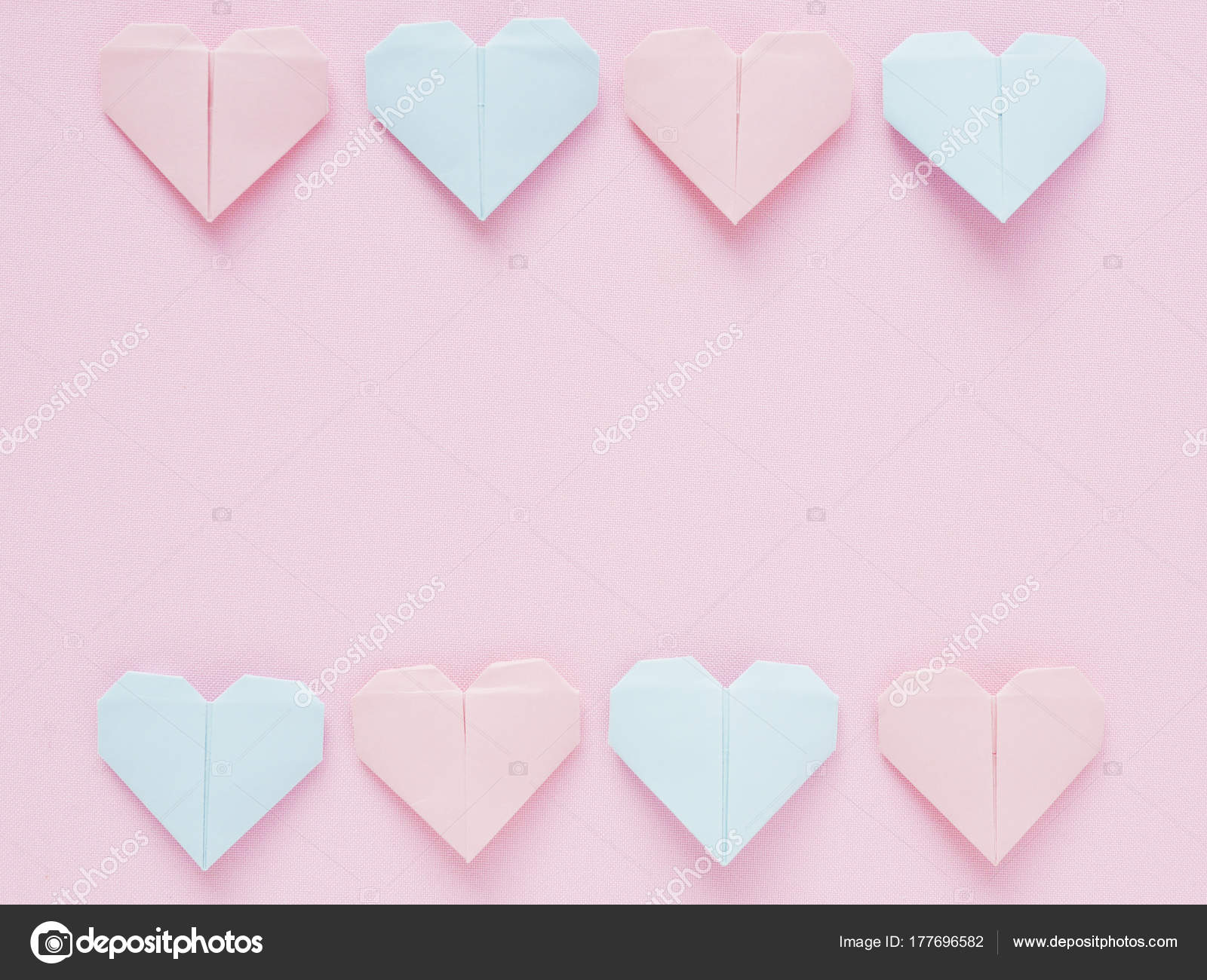Pattern paper origami hearts pink background stock photo pattern paper origami hearts pink background stock photo jeuxipadfo Gallery