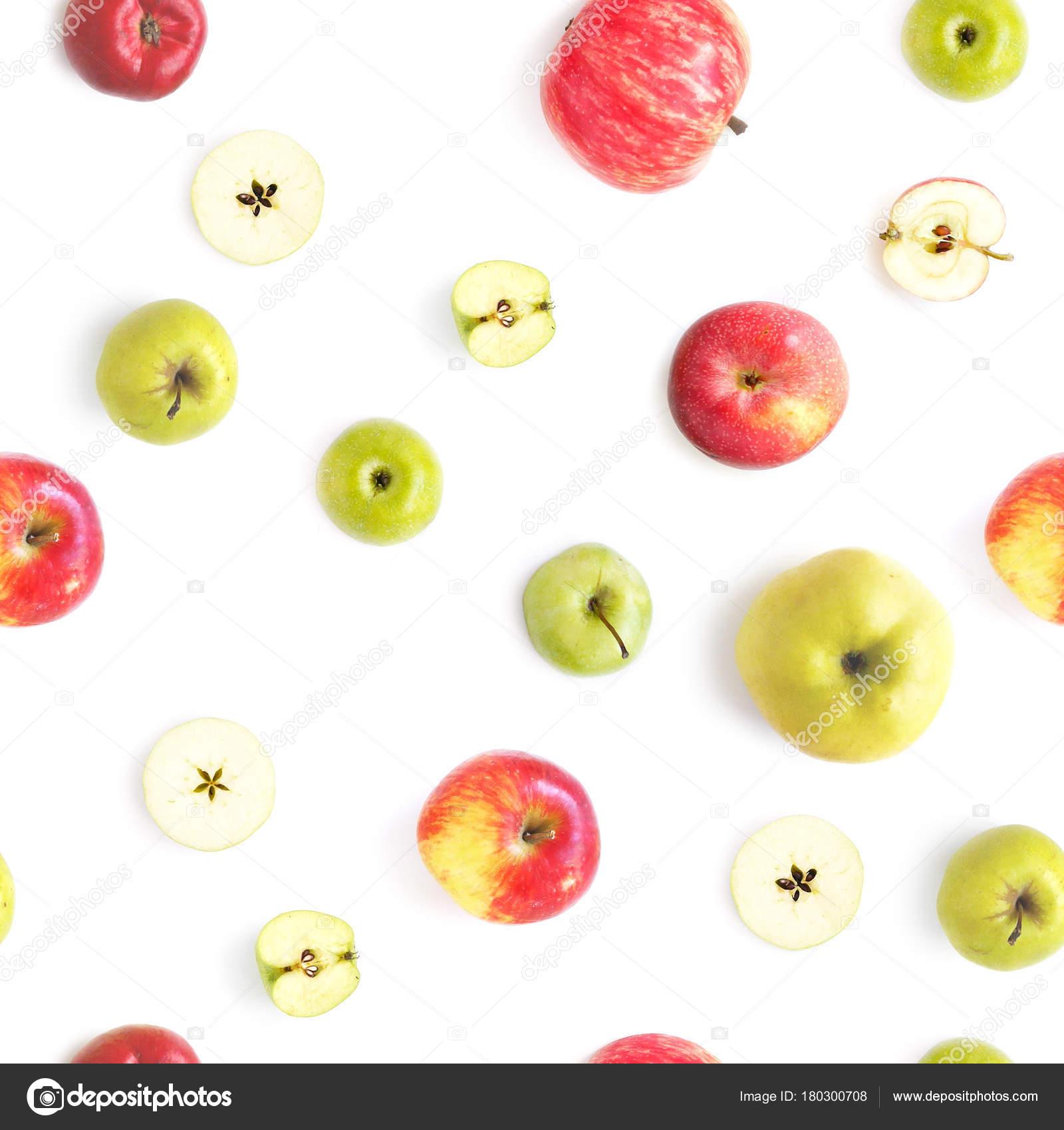 Patrón Transparente Alimentos Con Color Manzana Granada — Foto de ...