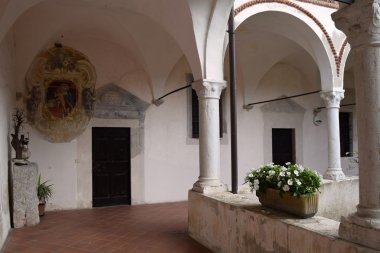 The cloister of a convent in Brescia countryside